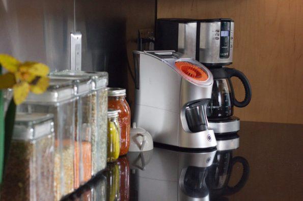 Dispenser on the kitchen counter