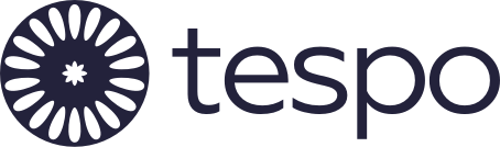 Tespo logo and link to homepage